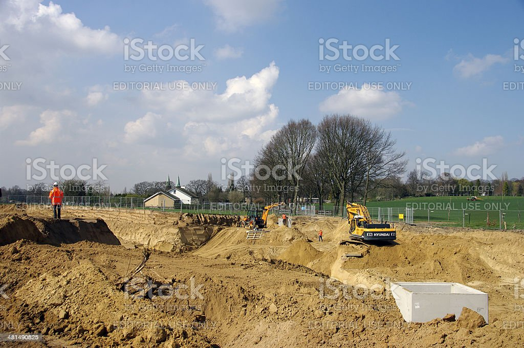 Construction of a new country road royalty-free stock photo