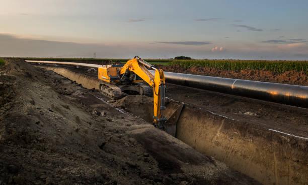 Bau einer neuen Gasleitung. – Foto