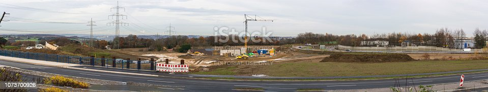 istock Construction of a new highway 1073700926