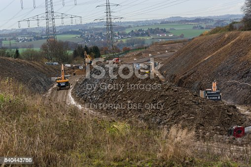 istock Construction of a new highway 840443786