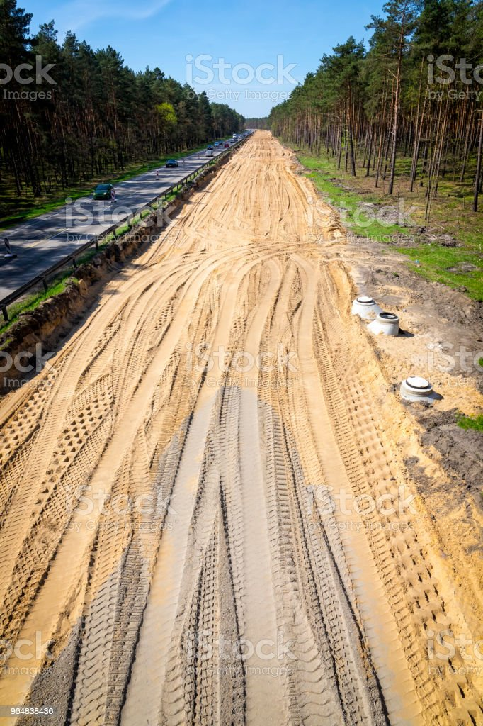 Construction of a new highway S3 in Szczecin, Poland royalty-free stock photo