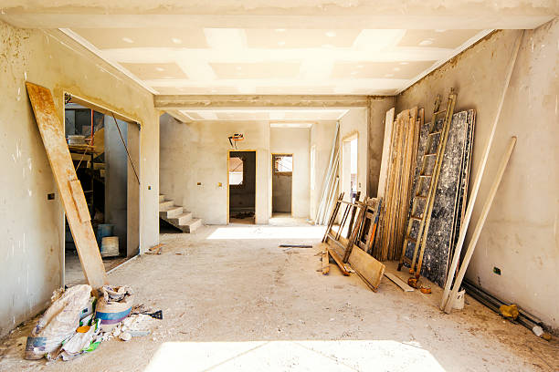 Construction of a new home. stock photo