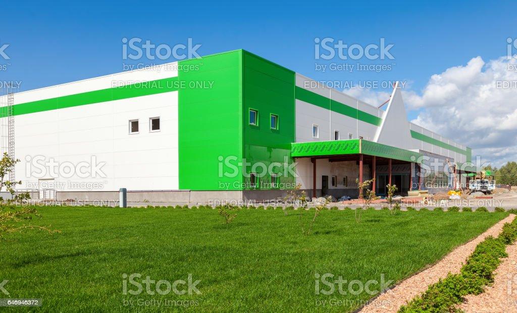 Construction Of A New Leroy Merlin Samara Store Stock Photo