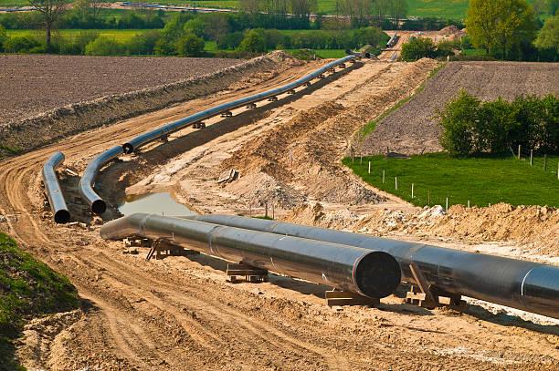 Pipeline di costruzione - foto stock