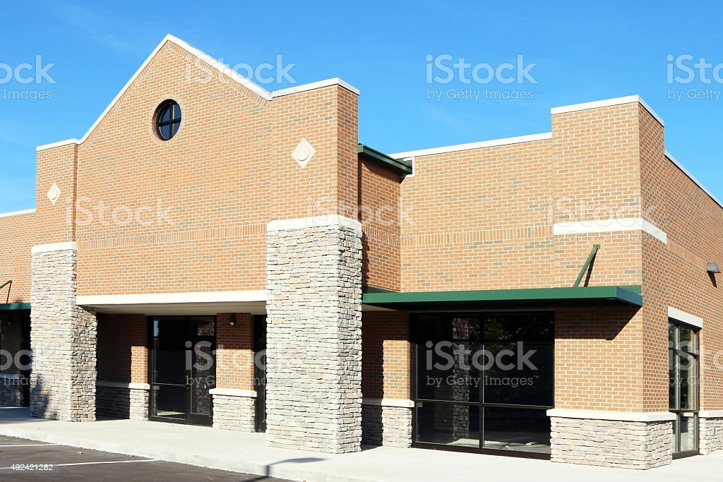 Construction of a retail shopping center stock photo
