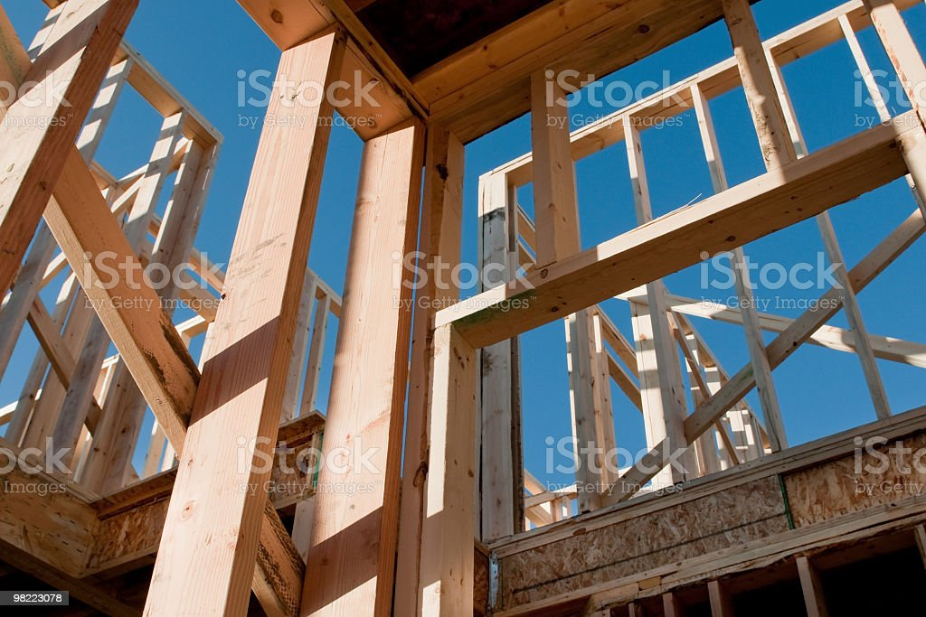 Construction of a Two Story Home royalty-free stock photo