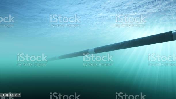 Aanleg Van Een Gaspijpleiding Onderwater Stockfoto en meer beelden van Aardolie