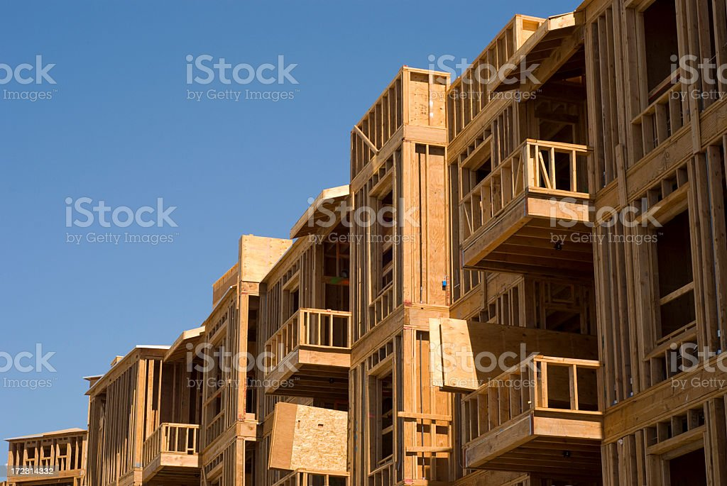 Construction of apartment buildings royalty-free stock photo