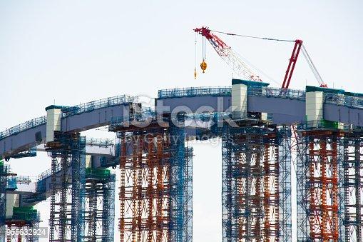 Construction of bridge, Tokyo