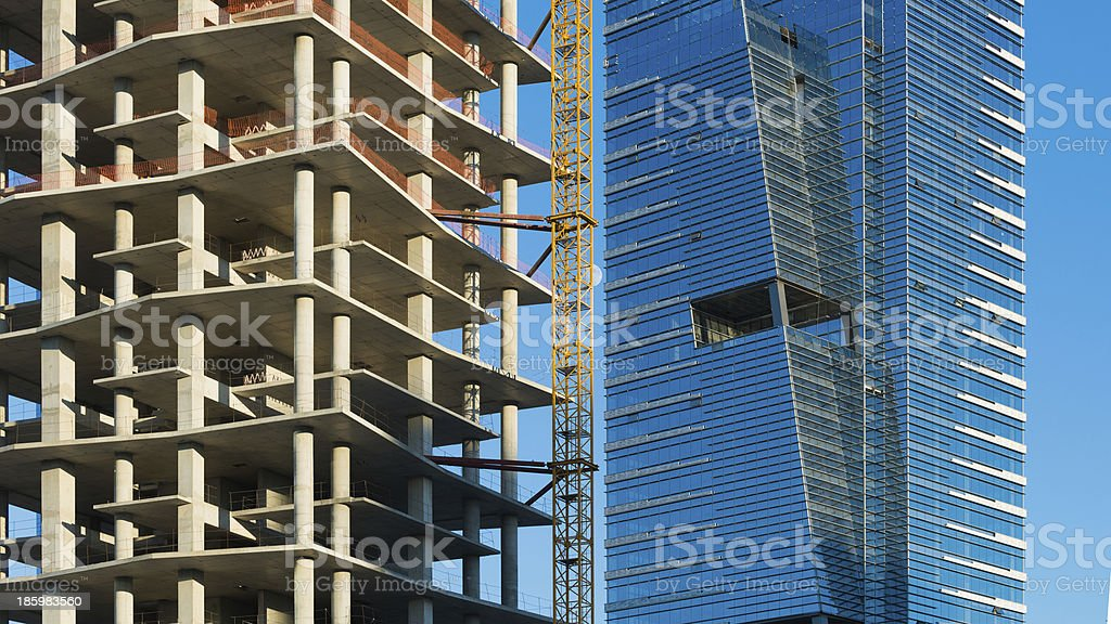 Construction of business center royalty-free stock photo