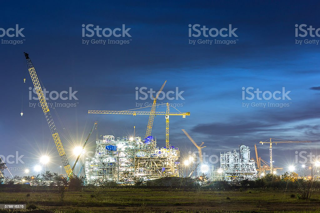 construction of chemical plant industry – Foto