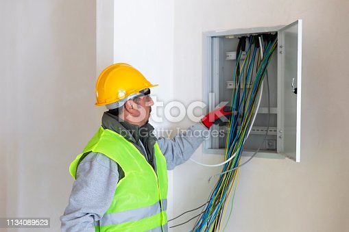 Construction of electric system inside a building