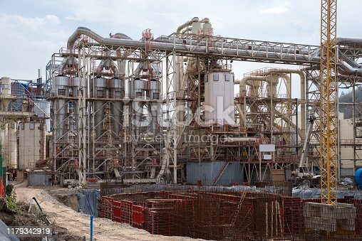 Construction of electrostatic precipitators and dust collecting systems in a plant for the production of particle board and wood fiber.