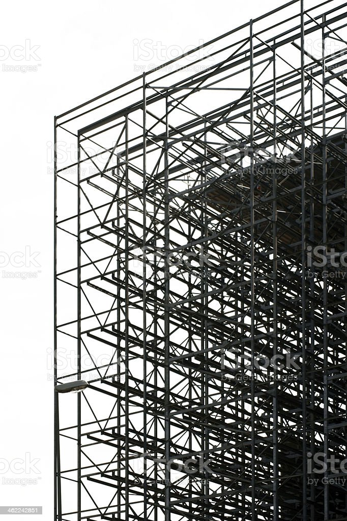 Construction of high-storage warehouse - isolated stock photo