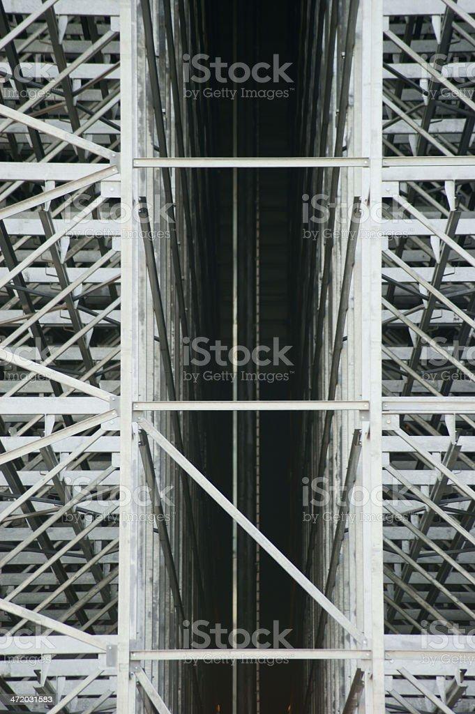 Construction of high-storage warehouse stock photo