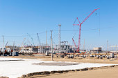 Construction of industrial chemical oil refinery