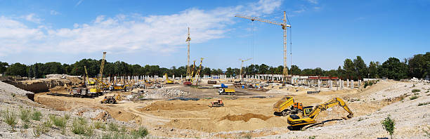 Construction of modern buildings foto