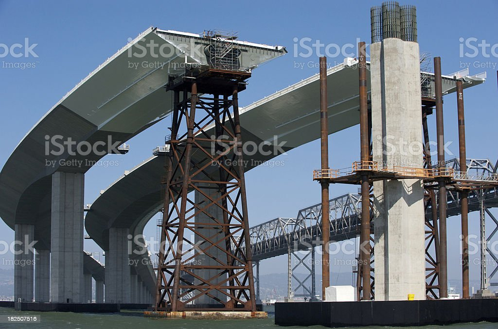 Construction of New Bay Bridge stock photo