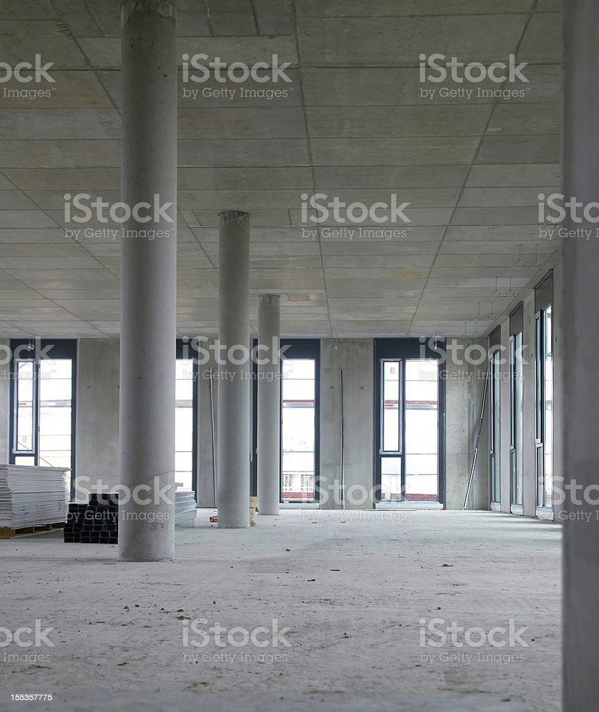 Construction of new building royalty-free stock photo