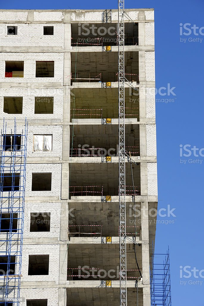 Construction of office building royalty-free stock photo