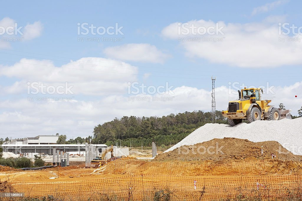 Construction of road royalty-free stock photo