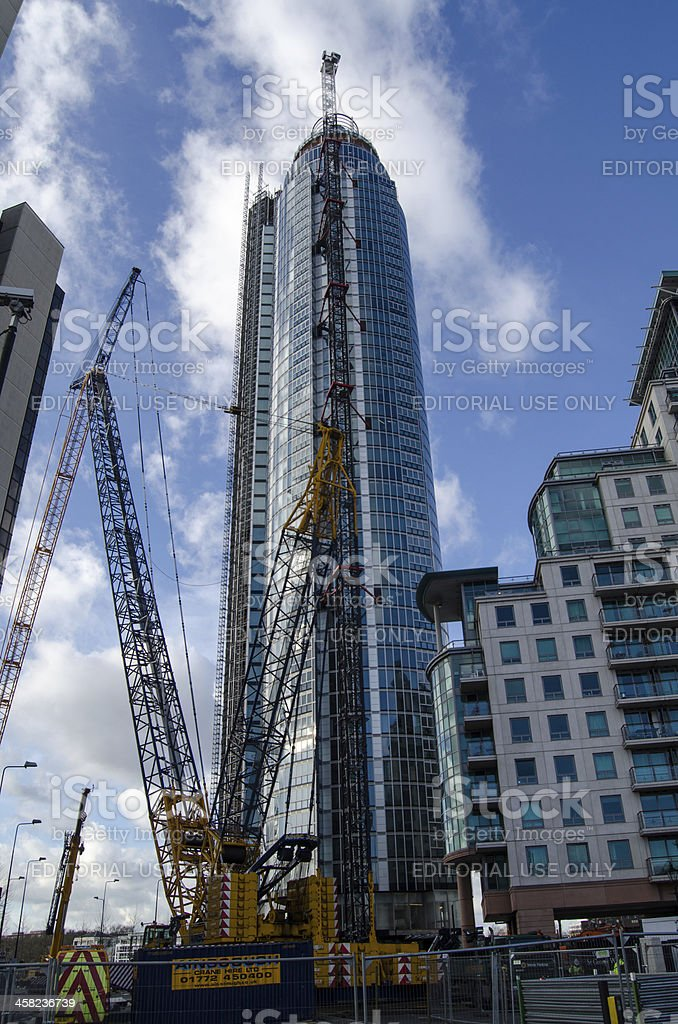 Construction of St George's Wharf Tower royalty-free stock photo