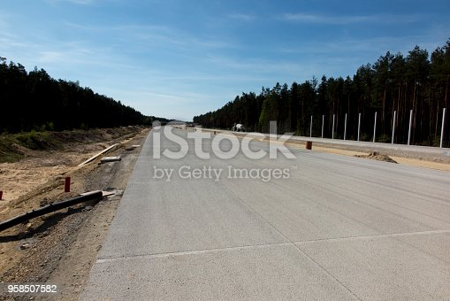 construction of the A1 motorway in southern Poland