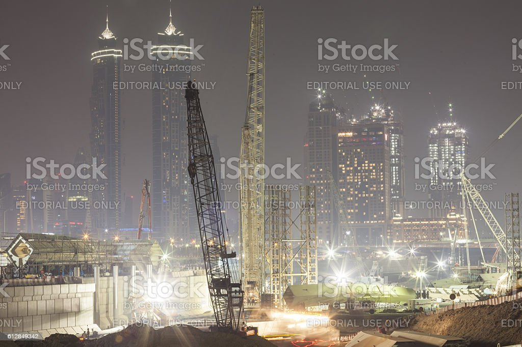 Construction of the Dubai Water Canal Project – Foto