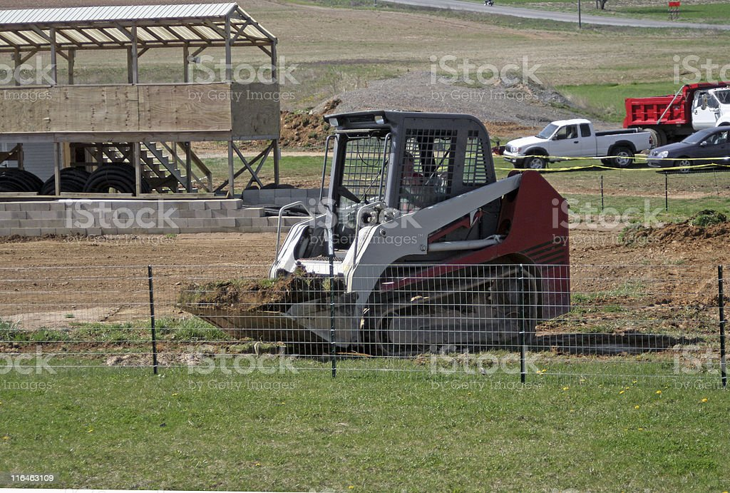 Construction on Remote Car Race Track royalty-free stock photo