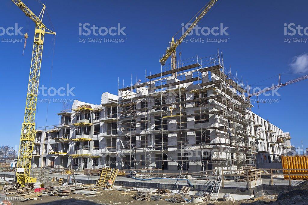 Bauarbeiten auf dem Gelände Lizenzfreies stock-foto