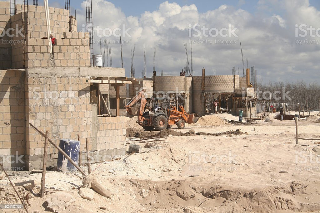 Construction on the beach royalty-free stock photo