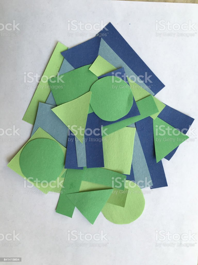 Construction Paper Shapes stock photo