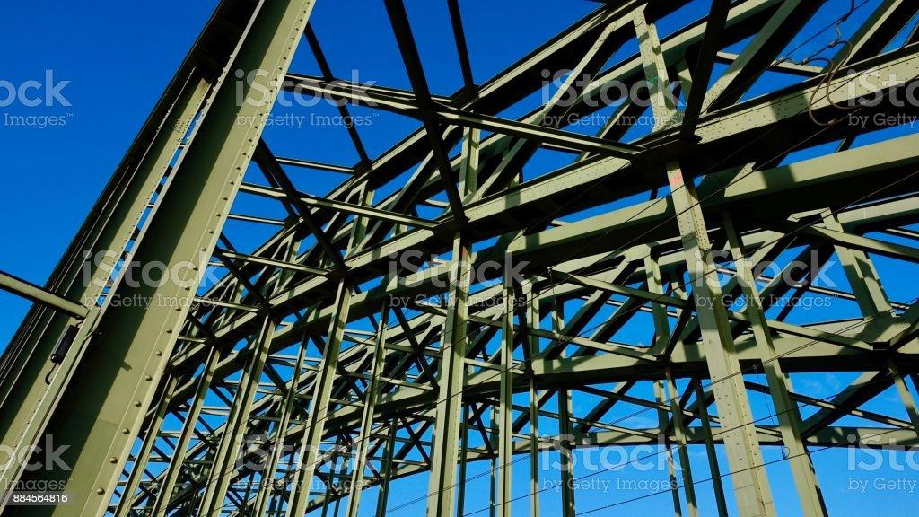 Construction part of Hohenzollern Bridge, Cologne stock photo