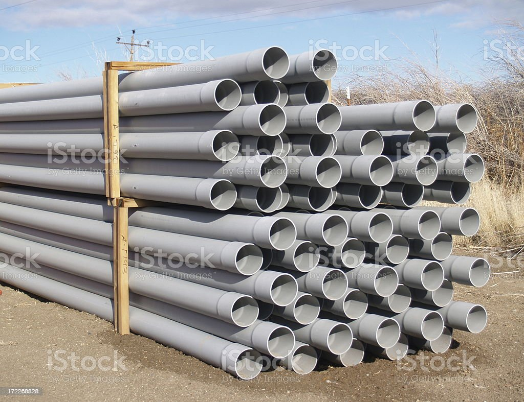 Construction Pipes royalty-free stock photo