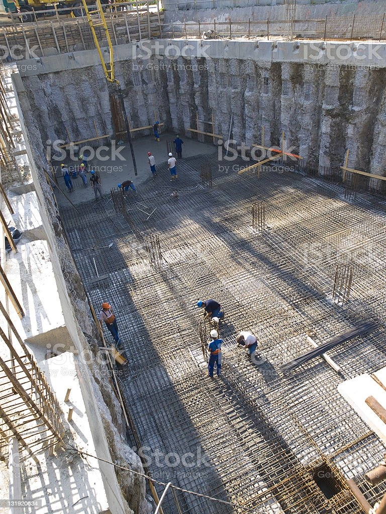 Construction pit stock photo