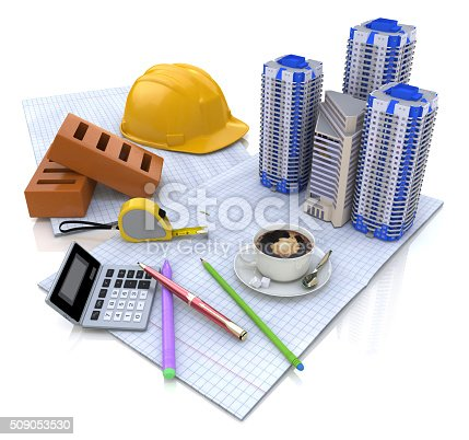 istock Construction plan buildings 509053530