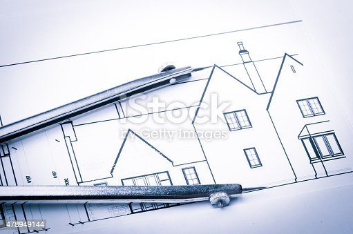 479196874 istock photo Construction planning drawings 478949144
