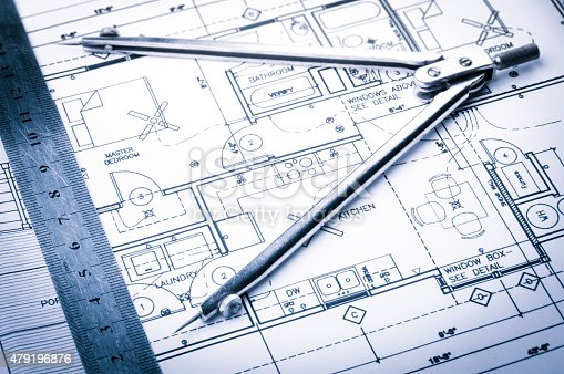 508818208 istock photo Construction planning drawings 479196876