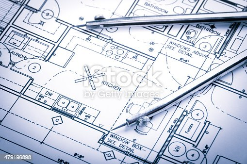 479196874 istock photo Construction planning drawings 479196898