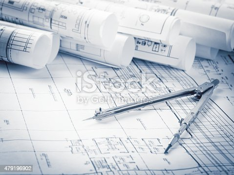 479196874 istock photo Construction planning drawings 479196902