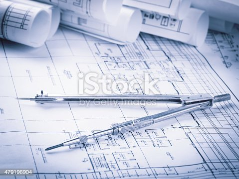 479196874 istock photo Construction planning drawings 479196904