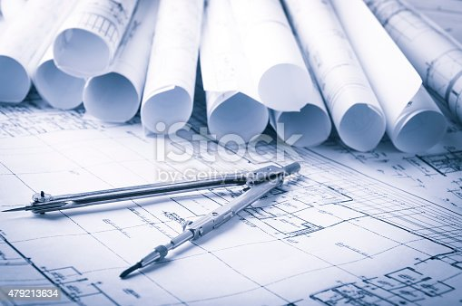 508818208 istock photo Construction planning drawings 479213634
