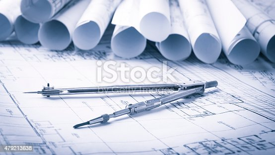 479196874 istock photo Construction planning drawings 479213638