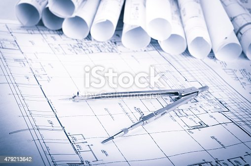 479196874 istock photo Construction planning drawings 479213642