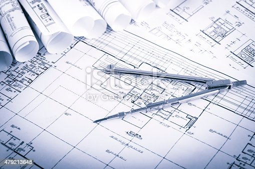 479196874 istock photo Construction planning drawings 479213648