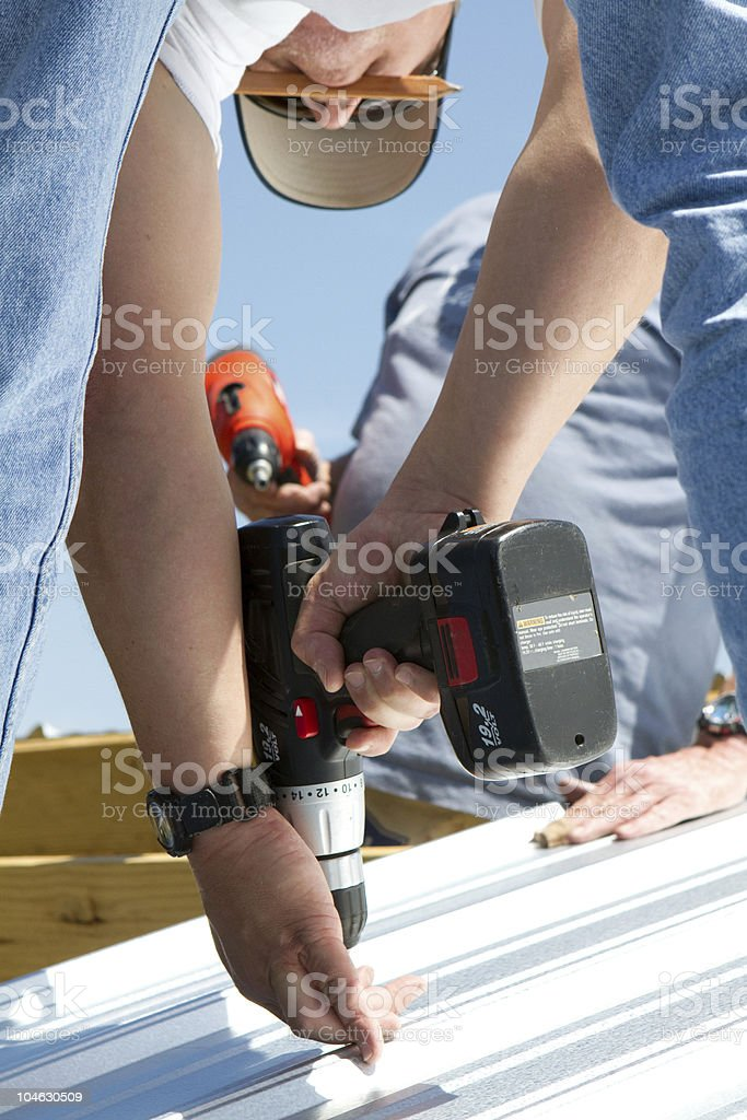 Construction Power Screwing royalty-free stock photo