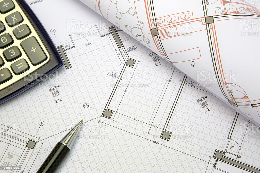 construction project concept stock photo