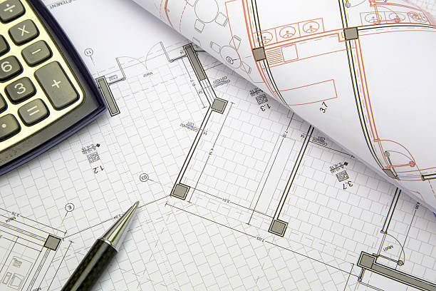 construction project concept - permit stock photos and pictures