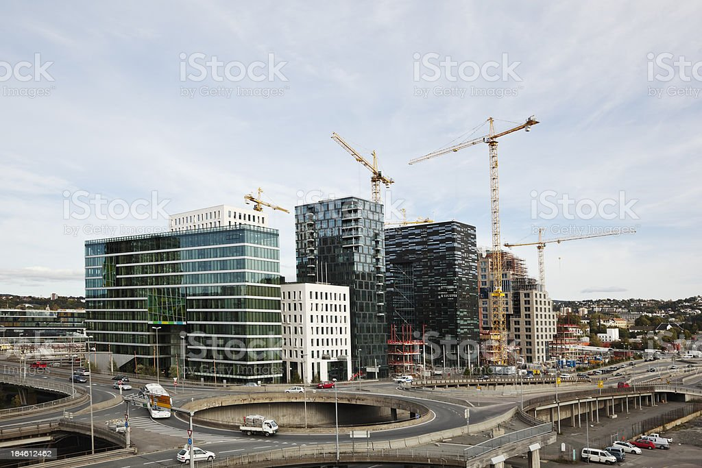 Construction project in Oslo, Norway. royalty-free stock photo