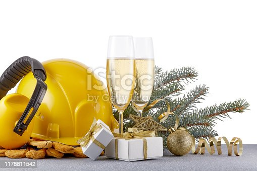 istock Construction  protective clothes and Christmas 1178811542